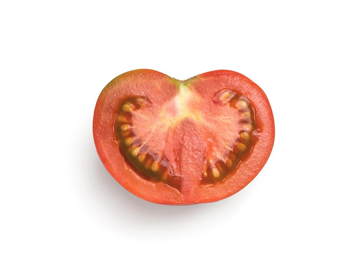 half slice of tomato