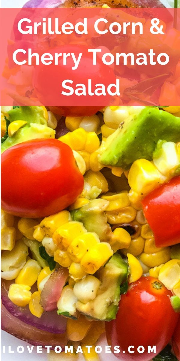 grilled corn and tomato salad